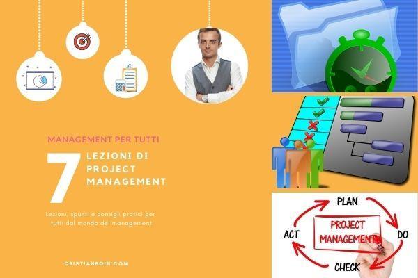 Lezioni di project management cover cristianboin