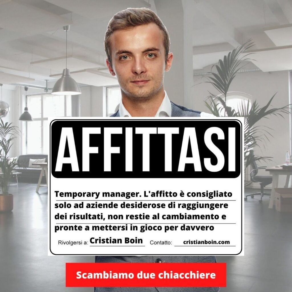 temporary manager cristian boin manager in affitto